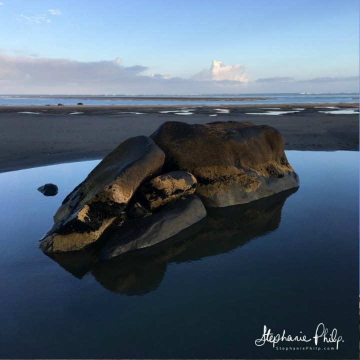 Elephant Rock, Raglan NZ. Photo taken by Stephanie Philp