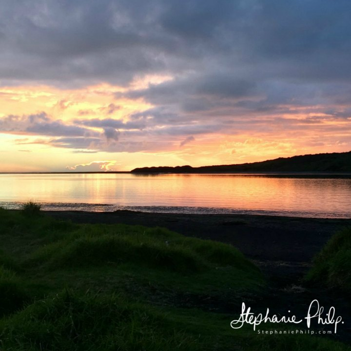 Harbour Sunset, Raglan NZ. Photo taken by Stephanie Philp