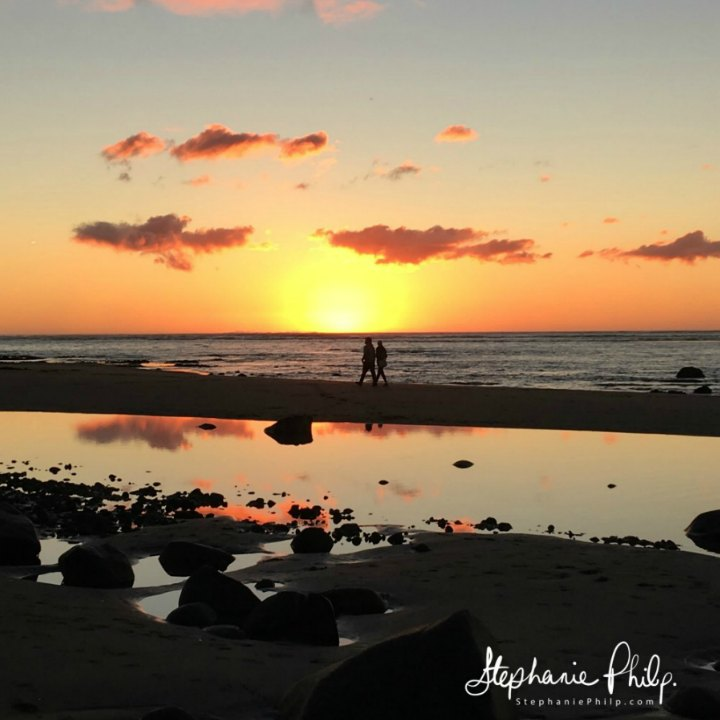 Ngarunui Beach Sunset. Raglan NZ. Photo taken by Stephanie Philp