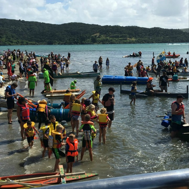 Start-Recycled Raft Race. Raglan NZ. Photo taken by Stephanie Philp